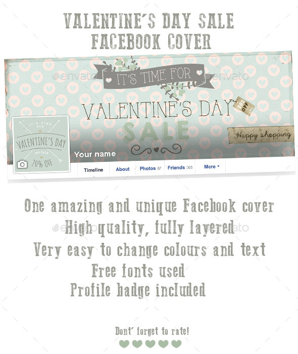Valentine s Day Sale Facebook Cover