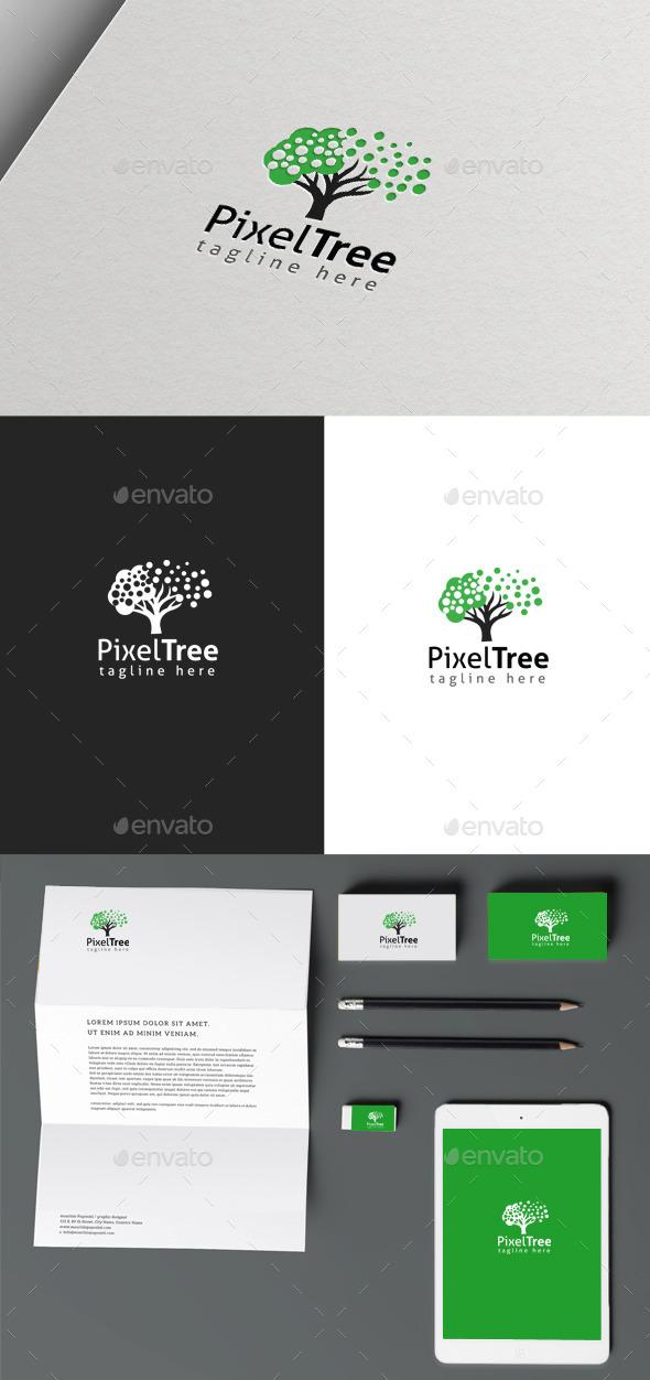 GraphicRiver Pixel Tree 9992407