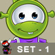 Little Green Alien – Set 1 - GraphicRiver Item for Sale