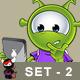 Little Green Alien – Set 2 - GraphicRiver Item for Sale