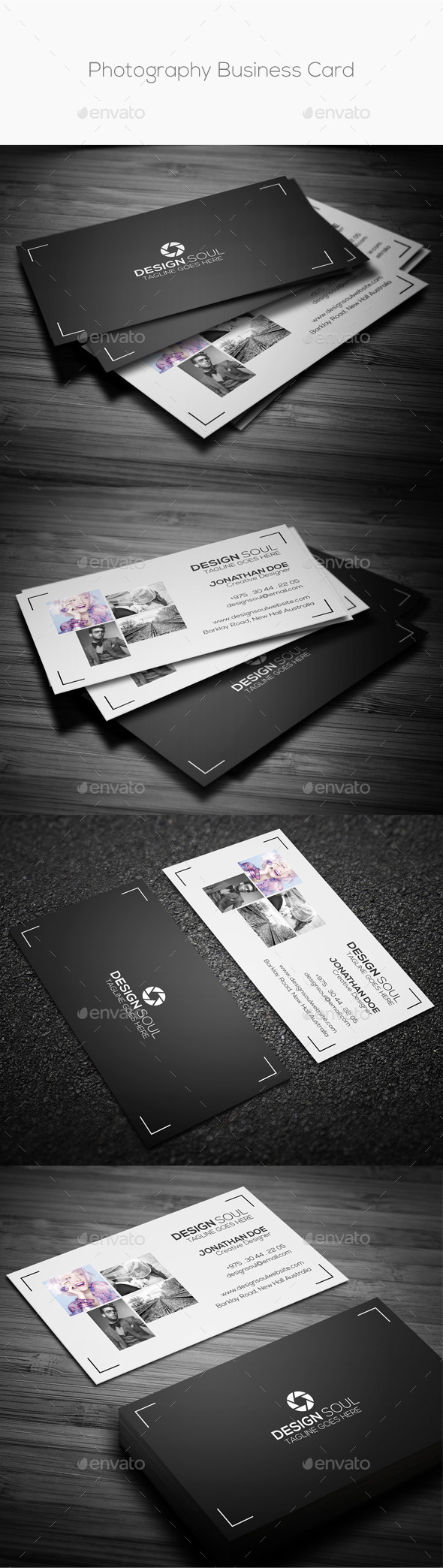 GraphicRiver Photography Business Card 9992557