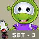 Little Green Alien – Set 3 - GraphicRiver Item for Sale