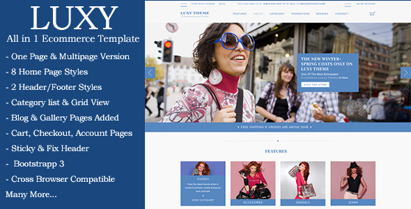 Luxy Ecommerce HTML Template