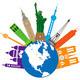 Globe for World Travel Color Illustration - PhotoDune Item for Sale