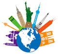 Globe for World Travel Color Illustration