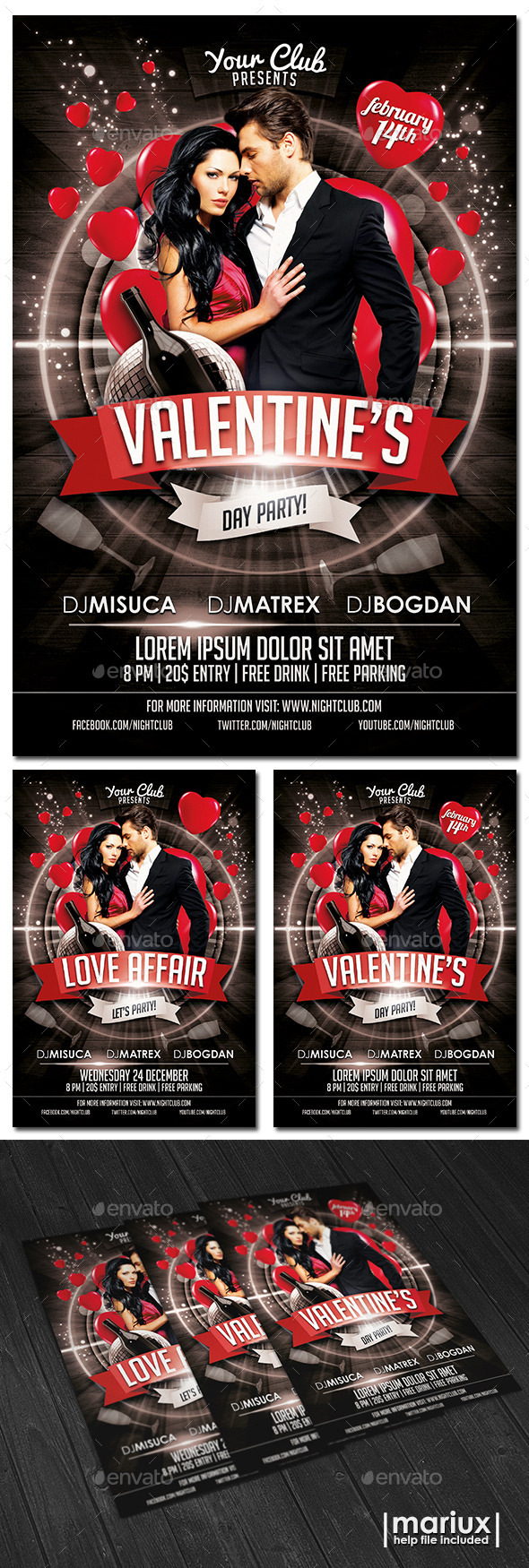 GraphicRiver Valentine s Day Party Flyer 9993054