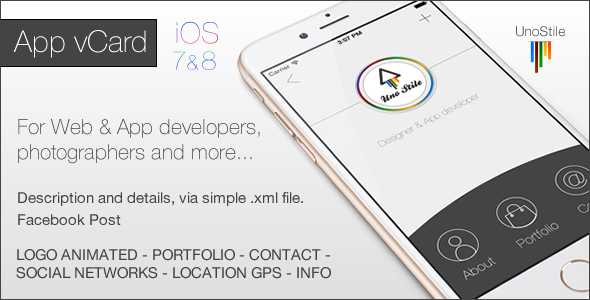 CodeCanyon App vCard IOS 9993058