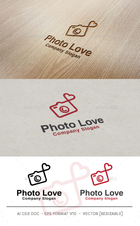 GraphicRiver Photo Love Logo 9993172
