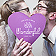 Valentine's Day Photo Overlays Badges - GraphicRiver Item for Sale
