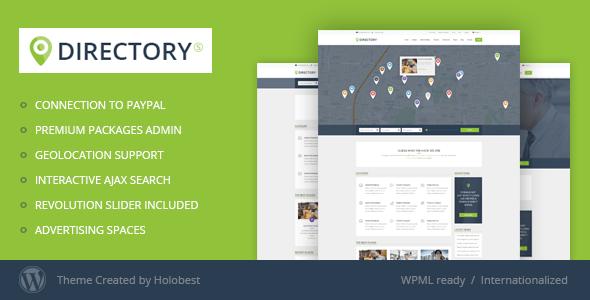 DirectoryS Listing WordPress Theme