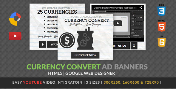 CodeCanyon Currency Convert GWD HTML5 Ad Banner 9993216