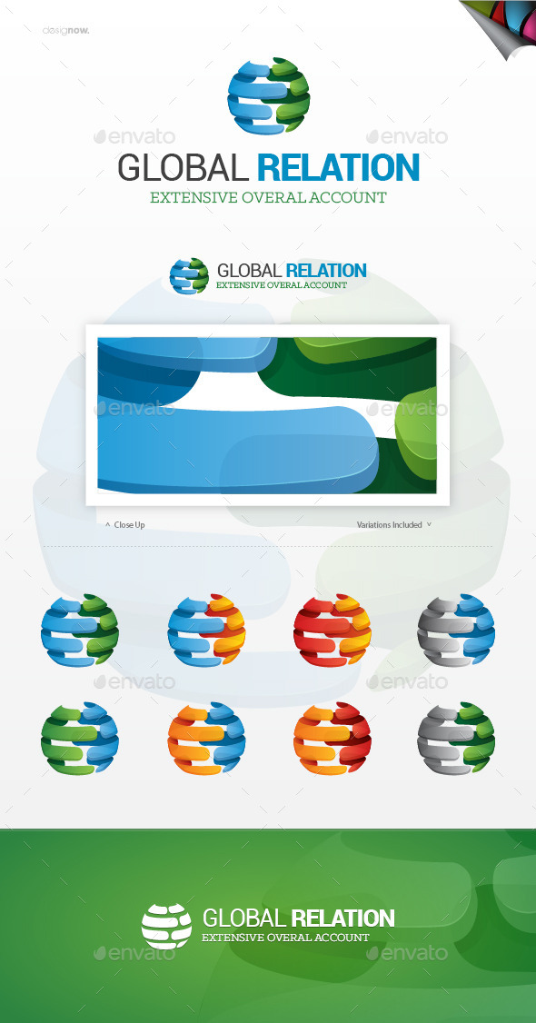 GraphicRiver Global Relation Logo 9993221
