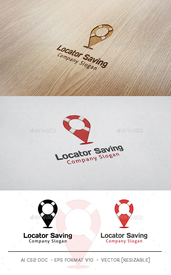 GraphicRiver Locator Saving Logo 9993440