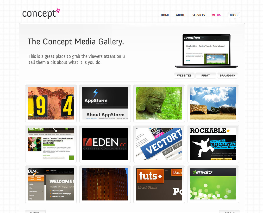 Concept [HTML/CSS], an ultra clean web layout.