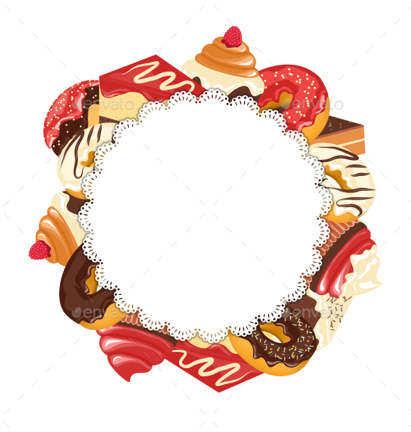 Lace Frame with Confectionery