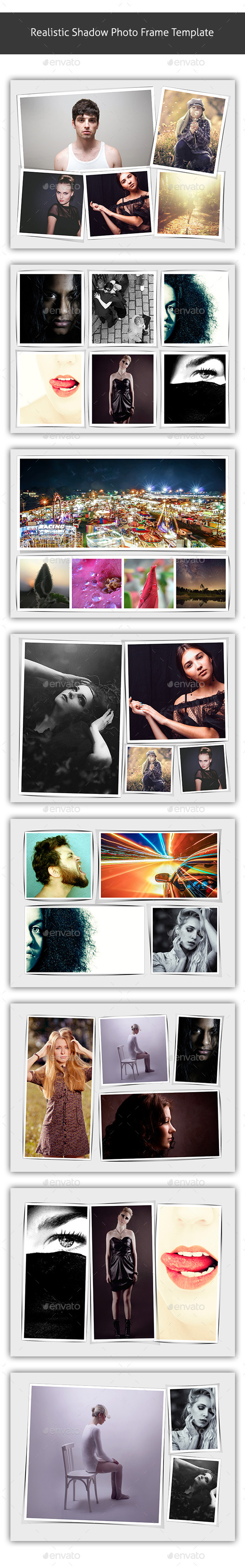 GraphicRiver Realistic Shadow Photo Frame Template 9993581