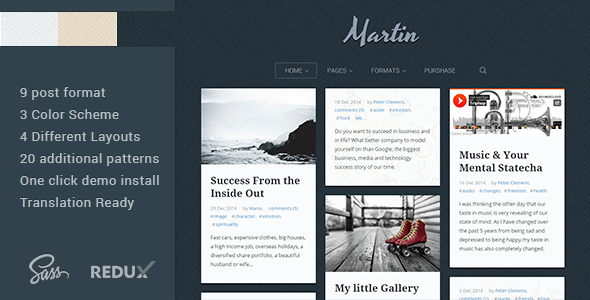 ThemeForest Martin Powerful & Flexible WordPress Blog Theme 9936269