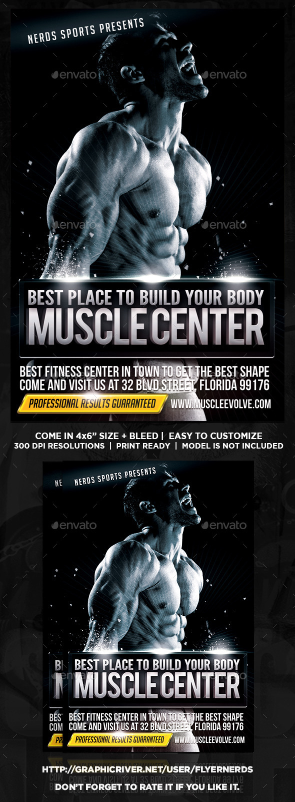 GraphicRiver Muscle Center Sports Flyer 9993798
