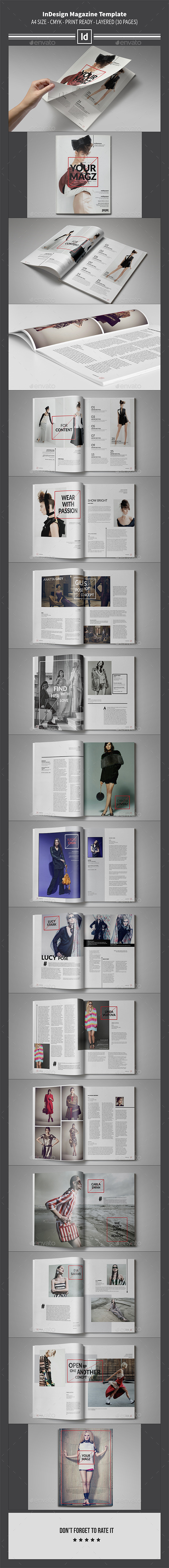 GraphicRiver InDesign Magazine Template 30 Pages 9993931
