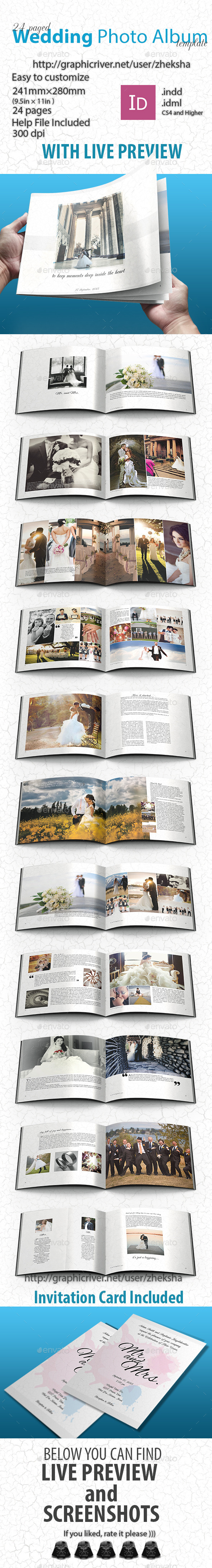 GraphicRiver Wedding Photo Album 9993978
