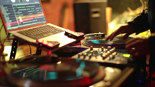 Cool Dj Behind The Turntables 29