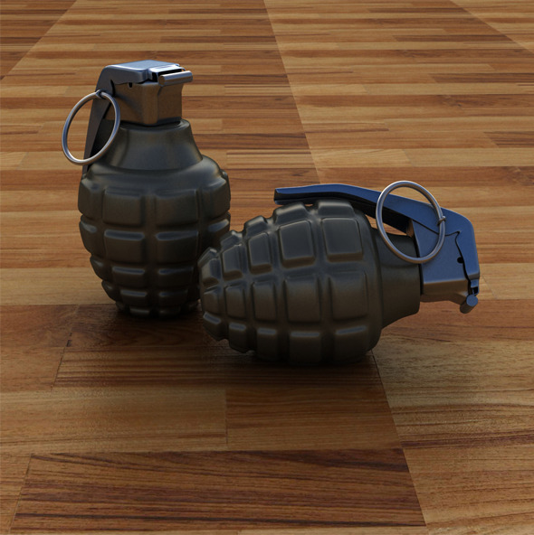 3DOcean High Poly Hand Grenade 9994167