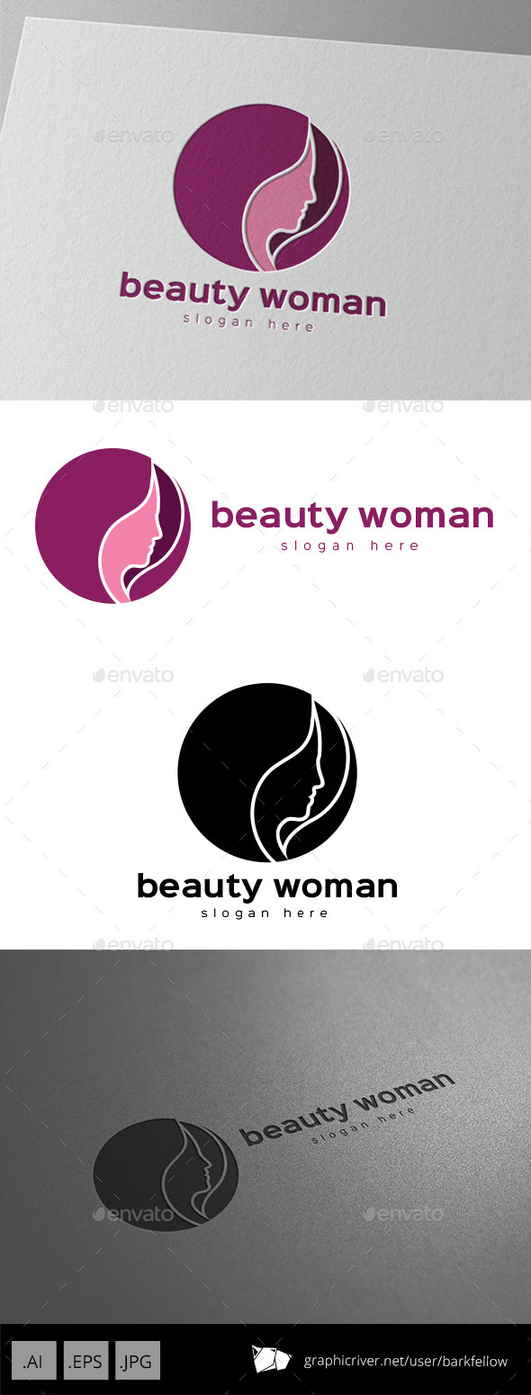 GraphicRiver Beauty Woman Hair Logo 9994184