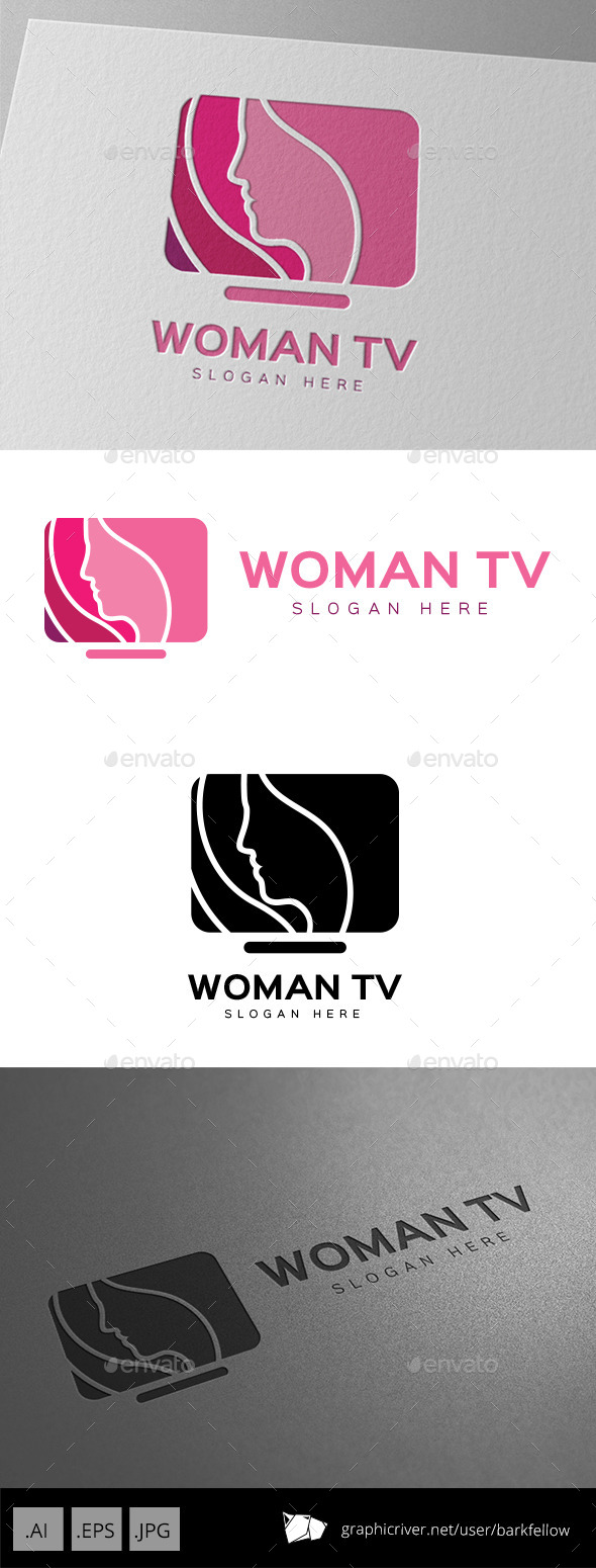 GraphicRiver Women TV Shop Logo 9994202
