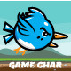 Flappy Blue Duck Sprite Sheets - GraphicRiver Item for Sale