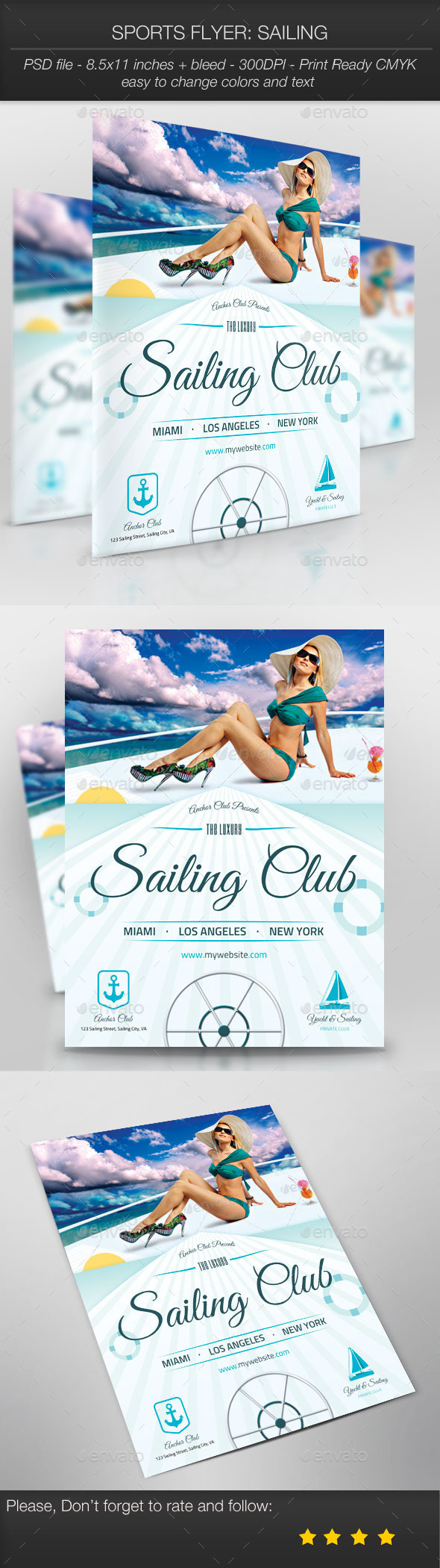 GraphicRiver Sports Flyer Sailing 9994321