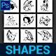 Angel Custom Shapes - GraphicRiver Item for Sale