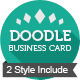 2 Style Doodle Business Card - GraphicRiver Item for Sale