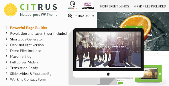 Citrus - Creative One Page Multi Purpose Theme