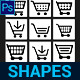 Shopping Cart Custom Shapes