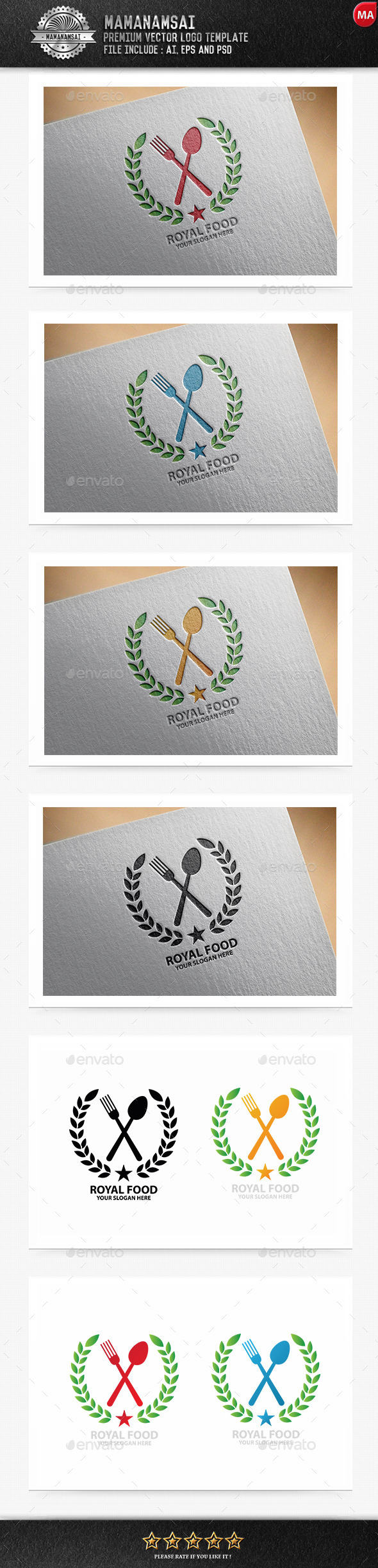 GraphicRiver Royal Food Logo 9994475