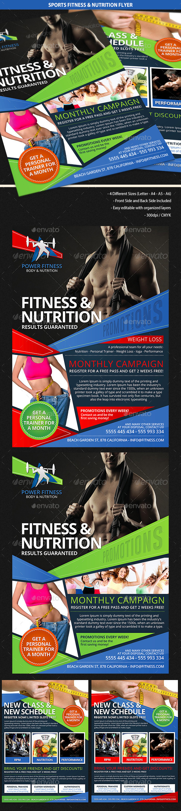 GraphicRiver Sports Fitness & Nutrition Flyer 9994510