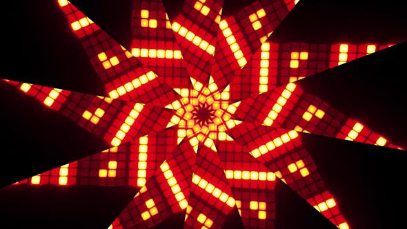 Kaleidoscope Nixie Number Pattern 1