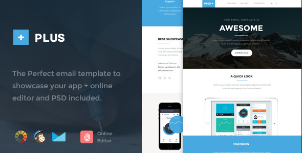 ThemeForest Plus Responsive Email Template & Online Editor 9994598