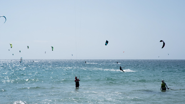 Kite Surf In Tarifa Andalusia Spain 6