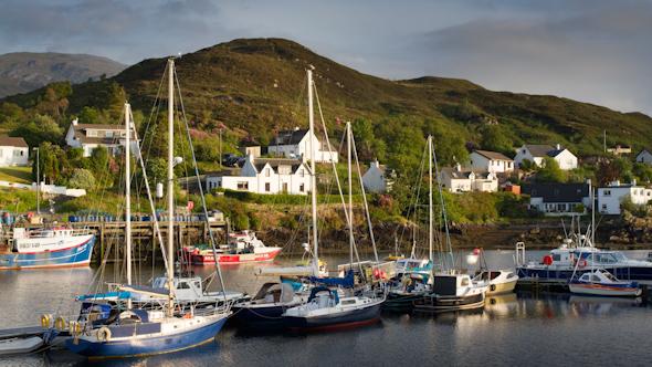Kyleakin Isle Of Skye Scotland Boats Timelapse 4
