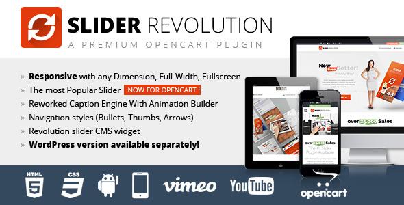 CodeCanyon Slider Revolution Responsive Opencart Module 9994648