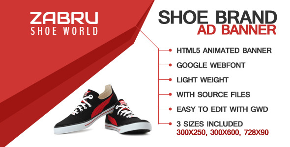 CodeCanyon Shoe Ad Template 9994670
