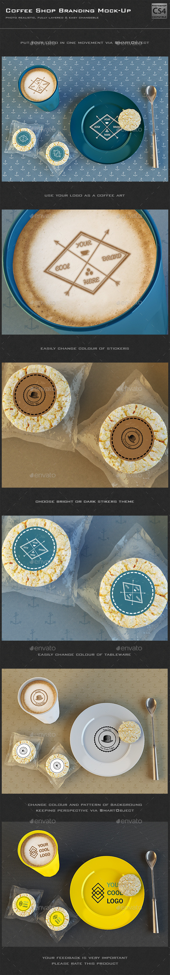GraphicRiver Coffee Shop Branding Mock-Up 9994745