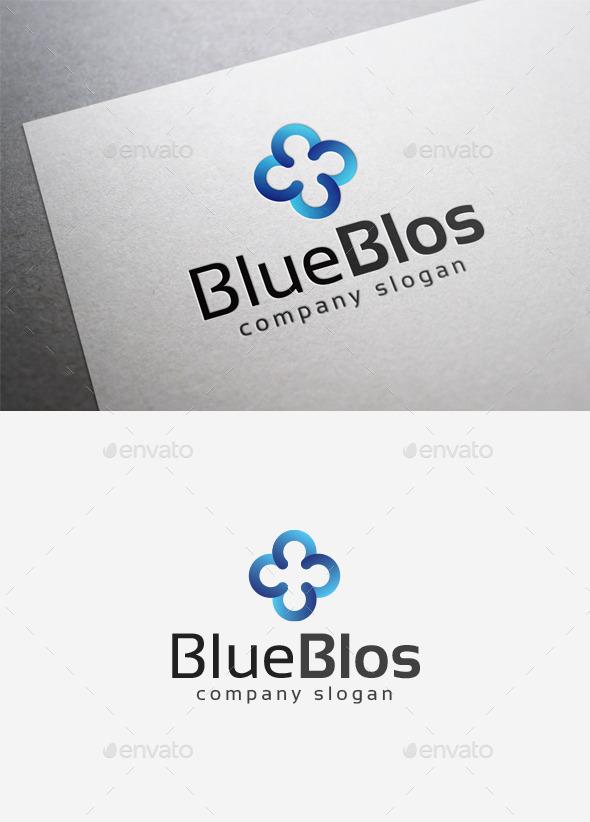 GraphicRiver Blue Blos Logo 9994786
