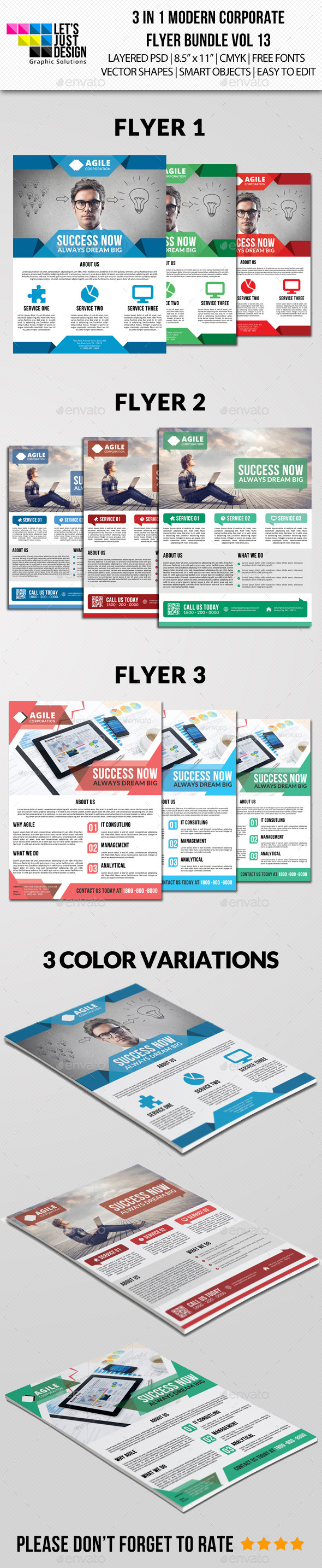 Modern Corporate Flyer Pack Vol 12