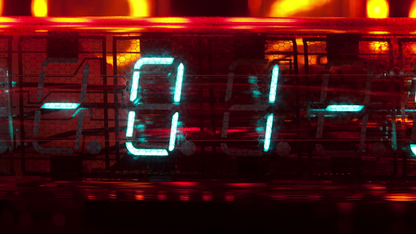 Led Clock Collection Nixie Numbers 14
