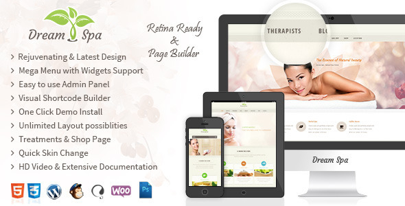 Dream Spa - Salon, Spa WordPress Theme
