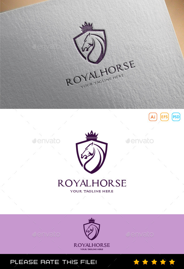 GraphicRiver Royal Horse Logo 9994828