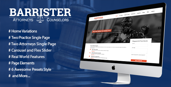 ThemeForest Barrister Responsive Law Business HTML5 Template 9943009