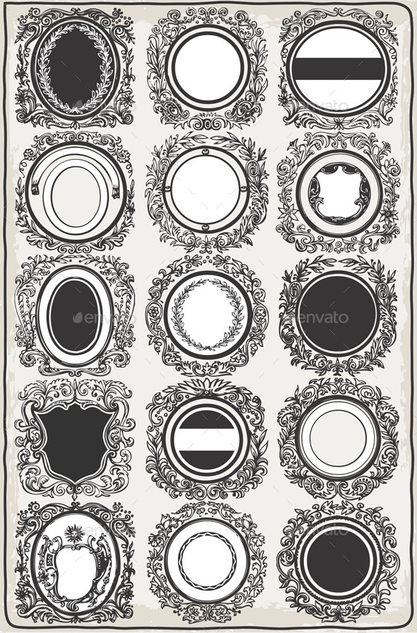 GraphicRiver Set of Vintage Graphic Garlands for Logos 9994862